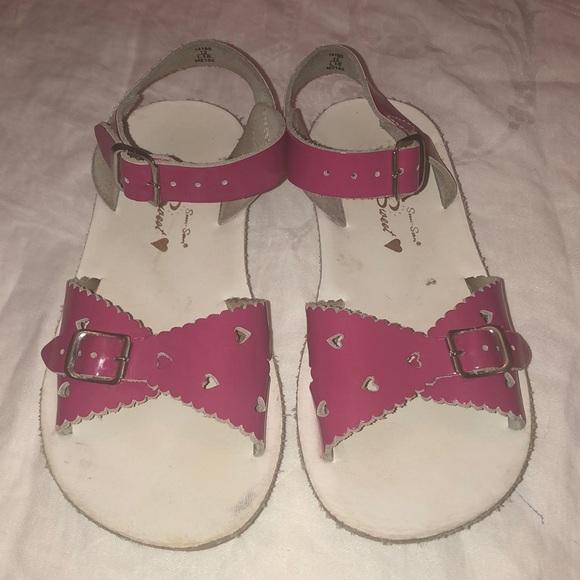 Girls sz12 pink Salt Water Sandals